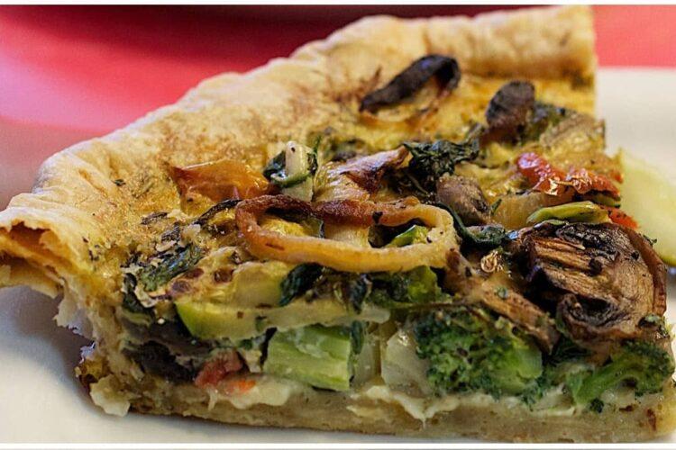 tarta de verduras al horno receta