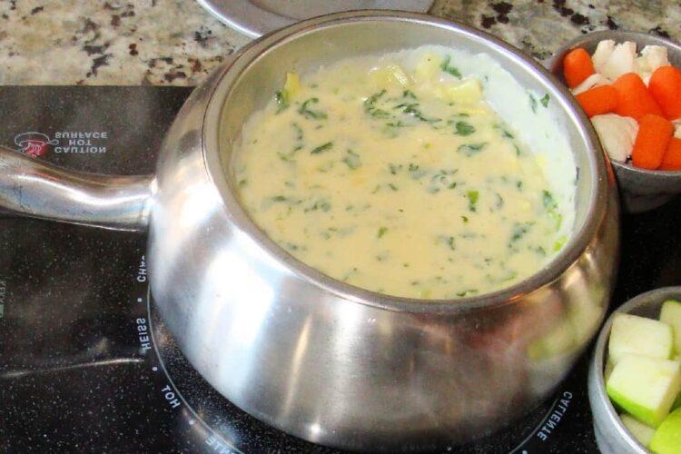 fondue de puerro ingredientes