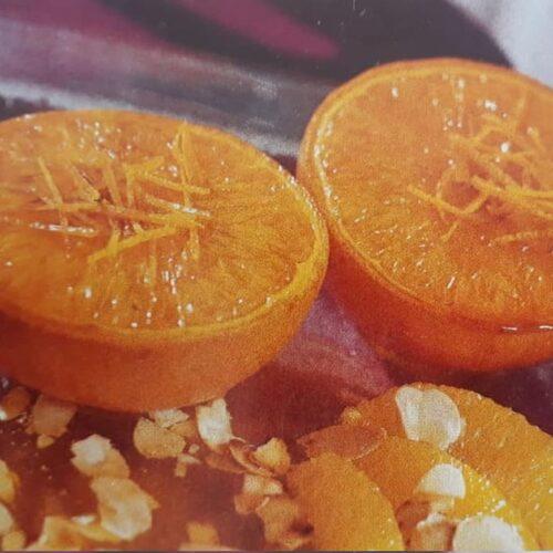 naranjas asadas receta