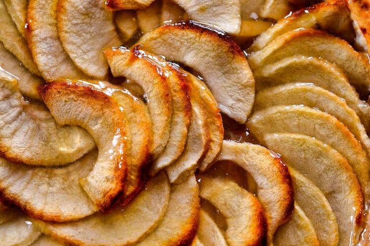 pastel de manzana casero