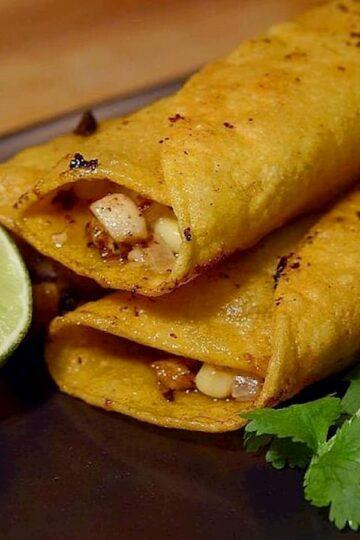 tacos con champiñones receta