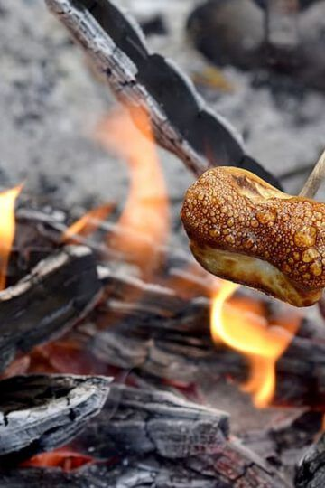 malvaviscos al fuego