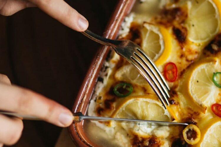 lota con casaca de queso