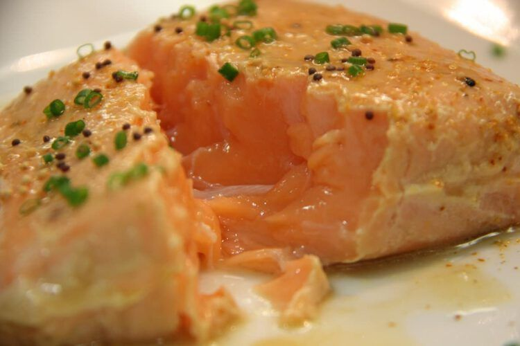 salmón receta salsa